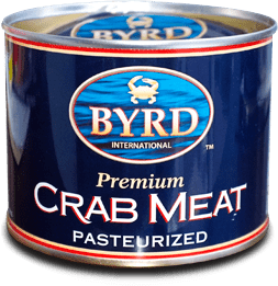 Byrd International Crab Meat product can